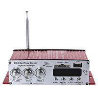 mini car amplifier usb Canada - Kinter Dual Channels Portable Mini Multifunctional Car HiFi Audio Amplifier With FM Function support SD Card USB
