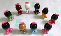 Wholesale Oriental Dolls - New 20 pcs Cute Multicolor Oriental Japanese Kokeshi dolls wooden Kid's Xmas Gift