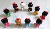 Wholesale Wholesale Japanese Kokeshi Wooden Dolls - New 20 pcs Cute Multicolor Oriental Japanese Kokeshi dolls wooden Kid's Xmas Gift