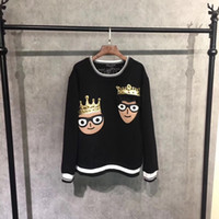 Wholesale Funny Tracksuit - New 2017 Fashion fitness Men tracksuits fleece Hoodies Sweatshirt Men brand Clothing funny Crown cartoon characters punk hip hop style