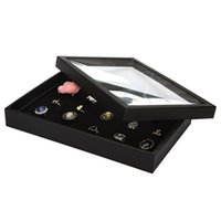 Wholesale Earrings Tray Display - Fashion Jewelry Display Tray Carring Case 100 Slots Rings Earrings Necklace Display Storage Box Organizer Hoder 2016 New Arrive