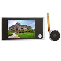 "Wholesale Digital Wireless Monitor - 3.5"" Digital LCD Door Viewer 2.0 Megapixel Camera Video Peephole Monitor F4344A"