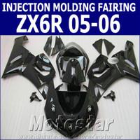 Wholesale kawasaki 636 fairings set - Injection molding ABS fairing kit for Kawasaki Ninja ZX-6R 2005 2006 aftermarket ZX6R 636 05 06 all glossy black fairings set XV3