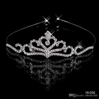 Wholesale Silver Bridal Hair Accessories - 18030 Crowns Popular Beautiful Hair Accessories Comb Crystals Rhinestone Bridal Wedding Party Tiara 4.13 inch*1.18 inch Free Shipping 18030