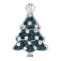 ingrosso applique dell'albero di natale-NSB2390 pulsante di gioielli snap vendita calda per la collana del braccialetto 2015 moda fai da te cristallo di cristallo albero di natale design lega snaps