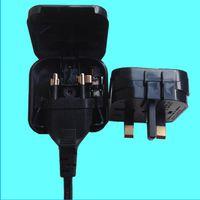 Wholesale Converter Connection - Euro Converter Adaptor EU 2 Pin Plug to UK 3 Pin Travel Mains Power Connections White Black Fedex DHL 500pcs lot
