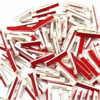 Wholesale wholesale safety pins - 500 PCS lot Safety bar pin plastic pin  Plastic Safety Pin back With Adhesive free shipping