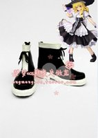 Wholesale Kirisame Marisa - Wholesale-Japan Hot Recommend Touhou Project Kirisame Marisa Cosplay Anime Boots Shoes Designer For Halloween