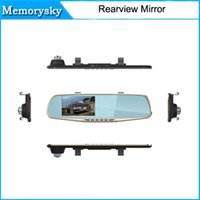 Wholesale Dvr Separate - 4.3inch 1080P Dual Lens Car DVR Two Camera Full HD 120 Angle View Separated Rear camera Gsensor dvr mirror hd hot sale 010226