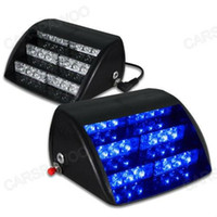 Wholesale emergency vehicles lights - Free Shipping CSPtek 18 LED Lamp Blue Strobe Police Emergency Flashing Warning Light for Car Truck Vehicle