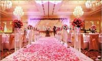 blumen für tischdekoration großhandel-Freies Verschiffen 1000pcs / lot Silk Rosen-Blumen-Blumenblatt-Blatt-Hochzeits-Tabellen-Dekorations-Großhandelsauswahlfarbe Es gibt insgesamt 52 Farben