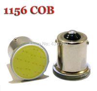 Wholesale 1156 Super Bright - Super Bright!! 10Pieces lot S25 1156 led COB 12SMD 1156 BA15S P21W Auto Car Signal Reverse Led Lights White 12V Auto Led