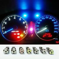 Wholesale car gauge lights - LED Car Lights Bulb T5 3020 5-SMD 5smd 70 73 74 2721 Instrument Speedometer Dash Gauge Cluster indicators LED Light Wedge Bulb Lamp