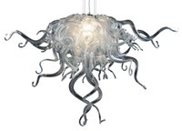 Wholesale purple room decor resale online - New Arrival Silver Color Small Size Crystal Chandelier Living Room Decor LED Hand Blown Glass Pendant Chandeliers