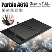 Wholesale Gloves Drawing - Wholesale-Parblo A610( Ugee M708 ) Graphics Drawing Tablet with Pen 2048 Level Digital Pen Good as Huion H610 Pro + Anti-fouling Glove