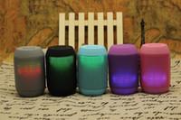 caixas de pires iluminadas venda por atacado-MY500BT Speaker pill Sem Fio Bluetooth grande Caixa de Som Suporte TF Cartão Portátil Mini Alto-falantes com luz LED 50 pcs up