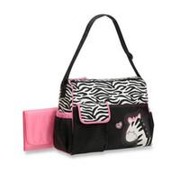 moda bebek bezleri toptan satış-Hayvan bezi çanta mumya nappy çanta Zebra veya zürafa babyboom fonksiyonlu moda infantued çantalar anne bebek çantası