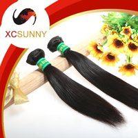 Wholesale Hair Brazil Extension - XCSUNNY 6A Brazil Hair Extensions Brazilian Straight Hair 2pcs Brazilian Virgin Remy Human Hair Weft Weave Brazilian Extension