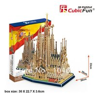 Wholesale Sagrada Familia - Wholesale-Sagrada Familia CubicFun 3D educational puzzle Paper & EPS Model Papercraft Home Adornment for christmas gift