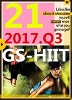 su Top-sale 2017.7 Luglio Q3 Nuova routine GS 21 ST HIIT 30 minuti Esercizio Fitness Video GS21 ST21 Video DVD + musica CD