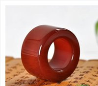 Wholesale Carved Emeralds - 2015 Free shipping European and American trade jewelry section emerald vintage carved ring Cool Simple Men Ring