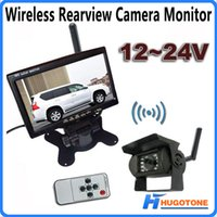 """Wholesale Hd Bus - HD 7"""" LCD TFT Car Truck Monitor Wireless CCD Rear View Kit IR Night Vision Reversing Camera for Truck Bus"""