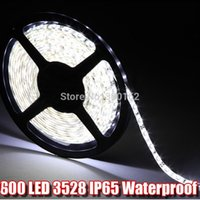 Atacado-5m SMD3528 flexível LED Light Strip 120led / m IP65 impermeável Flex LED Ledstrip da fita Lâmpada Corda para Cmmercial / Car / Home