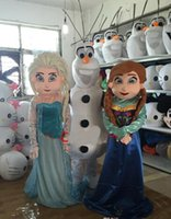 Wholesale Good Quality Mascots Cheap - New Blue Princess Elsa Mascot Costume Masquerade Frozen Adult Size Fancy Dress Party Good Quality and Cheap Price Factory Direct Free Ship