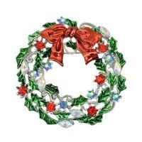 girlande broschen großhandel-2015 neue angekommene Weihnachten Broschen Mode Garland Vergoldete Brosche Pins Weihnachtsgeschenk Frauen Kleid Schmuck