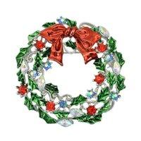 broches de festão venda por atacado-2015 New Chegou Broches De Natal Moda Garland Banhado A Ouro Broche Pinos Presente de Natal Mulheres Vestido de Jóias