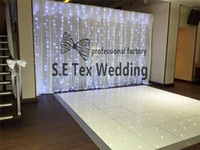Nice Looking 3m * 6m Ice Silk Wedding Backdrop Curtain \ Stage Background со светодиодным светом в белом цвете