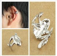 Wholesale Wholesale Ear Cuffs Frog - Frog Ear Cuff Punk Style Unisex Earrings Cheap Jewelry Free Shipping LM-C057