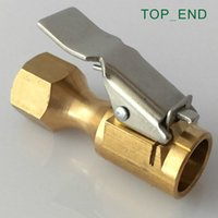 """Wholesale Air Chuck Tire Brass - Wholesale-Large Bore,Euro Style Air Chuck,Open (Flow Through) ,Brass Stem,Tire Tyre Inflator Gauge Fitting,1 4""""NPT Female,Tire Repair"""