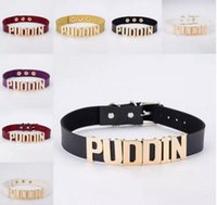 Wholesale cosplay trendy for sale - Brand New Harley Quinn PUDDIN Choker Suicide Squad Collar Neck Necklace Halloween Cosplay Choker Pop Culture Letter Necklace