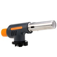 Hot Sale camping en plein air Voyage gaz briquet torche Flame Gun BBQ Soudage Flamethrower Butane Burner Gas Torch DHL Y2105