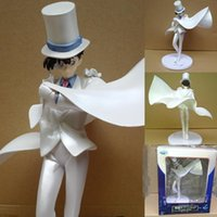 Wholesale Kaito Kid Action Figure - wholesale Retail Detective Conan Kaito Kid The Phantom Thief Premium PVC Anime Action Figure Model Collection Free Shipping