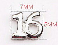 Atacado 20PCS / lot Lucky Number Sixteen 16 encantos flutuantes Locket Fit para Glass Living Locket Magnetic Jewelrys