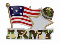 Wholesale American Ornament - American Army Military Resin Hanging Personalized Christmas Ornaments Holiday Figurines For New Year Gifts or Home Decoration