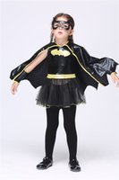 Wholesale Micky Mouse Clothes - 2015Hot Halloween Kid's Clothing Batman Girls New Dress The Game Clothing Costume Party New Clothing Micky Mouse Suits