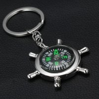 Wholesale Nautical Key Chains - 2015 Alloy Nautical helm compass keychain Fashion Key Chains Charms Keychains novelty key rings small items best selling items