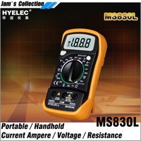 Wholesale Measure Dc Current - Free shipping HYELEC MAS830L small portable handheld multimeter for DC or AC current voltage resistance measuring