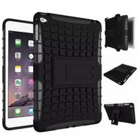 ingrosso mini shell di apple ipad-Custodia per cellulare resistente all'usura ibrida antiurto in gomma TPU + PC 2in 1 per iPad mini 4 TPU + iPad, spedizione gratuita