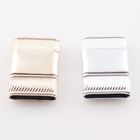 Wholesale Magnet Rectangle - Hot Selling Rectangle Magnetic Clasp 16*3mm Claps for Flat Leather Bracelet Making DIY Magnet Clasp C85