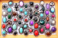 Wholesale Costume Gemstone Rings - 25pcs lot Oversize Resin Imitated Gemstone Rings Wedding Ring Costume Rings Fashion Ring [R239*25]
