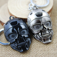 Wholesale Terminator Toys Wholesale - NEW Hot fashion Cartoon movie key chain toys high quality Terminator robot mask Alloy keychain Toys best gifts cc169
