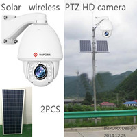 Wholesale Solar Powered Ip Camera Wireless - Solar Power 1.3MP COMS Hikvision audio auto tracking ptz ip camera wireless wifi 960p ip camera 20X zoom IR wireless CPE AP