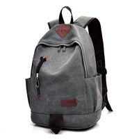 Wholesale laptop backbag for sale - New Unisex Men Canvas Backpacks Large School Bags For Teenagers Boys Girls Travel Laptop Backbag Mochila Rucksack Grey