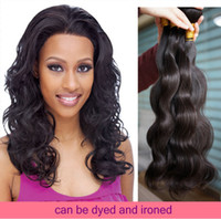 Wholesale off black hair weave for sale - Group buy 2015 Off Human Hair weave Brazilian Virgin Hair Body Wave Hair Extensions A Grade Bundles Thick mix length dhl Free