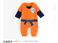 Wholesale Baby Dragons - Wholesale-Baby Goku Dragon Ball Z Infant Baby Newborn Creeper Crawler Bodysuit,Dragonball Z Son Goku KungFu Baby Bodysuit Party,Jumpsuit