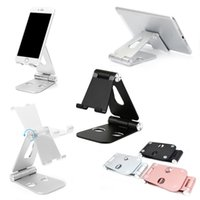 Wholesale Tablet Pc Stand Portable Foldable - Portable Foldable Metal Stand Holder For iphone Samsung HuaWei XiaoMi Vivo Oppo Mobile Phone Tablet PC Ajustable Desk Bracket